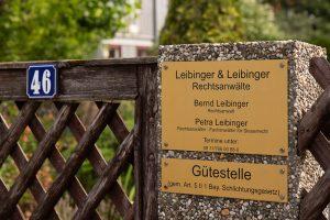 Eingang Rechtsanwaltskanzlei Leibinger & Leibinger